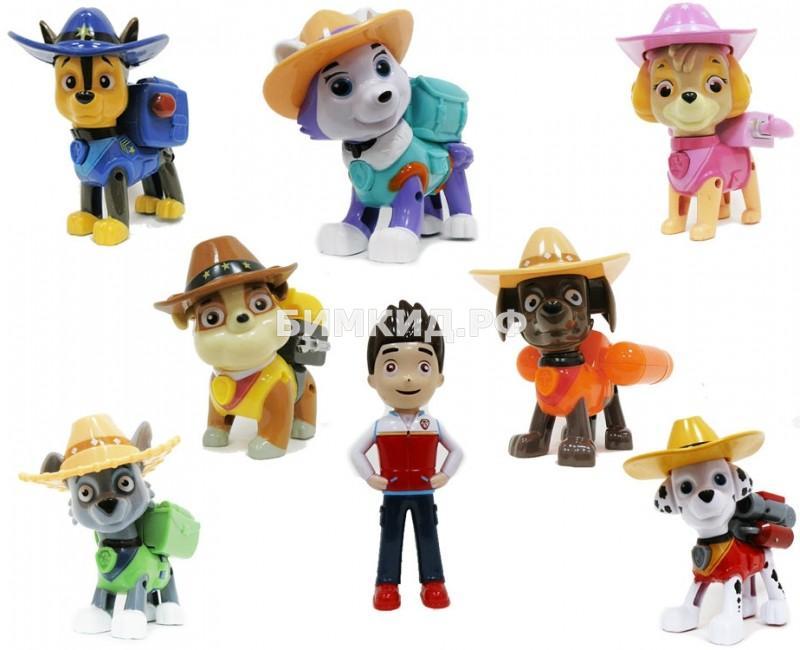 Набор из 8 героев в ковбойских шляпах Щенячий патруль (Paw Patrol)