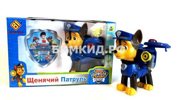Гонщик со значком (8 см) Щенячий патруль (Paw patrol)