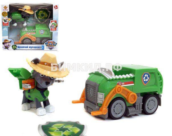 Рокки с машинкой в ковбойской шляпе Щенячий патруль (Paw patrol)