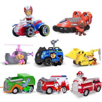 Набор 1 поколение. 8 героев с машинками рюкзаками-трансформерами Щенячий Патруль (Paw Patrol)