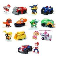 Набор 1 поколение. 7 героев с машинками и рюкзаками-трансформерами Щенячий патруль (Paw patrol)