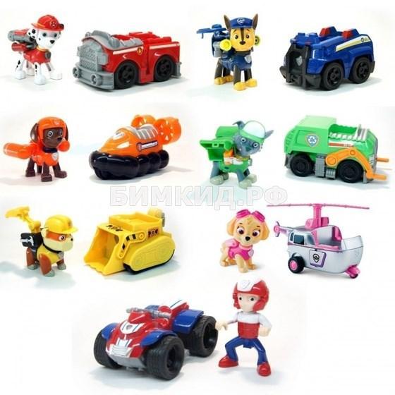 Набор из 7 героев с машинками Щенячий патруль (Paw patrol)