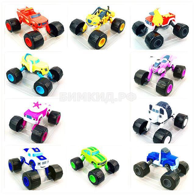 Набор 10 машинок (13 см) с раздвижными колесами (Вспыш и чудо-машинки)
