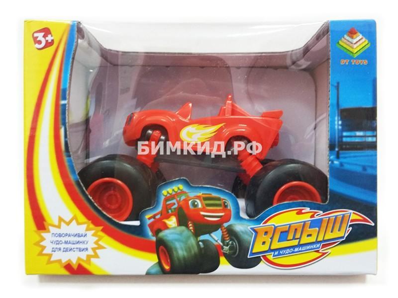 Машинка Вспыш (15 см) с раздвижными колесами, музыкой и подсветкой (Вспыш и Чудо-машинки)