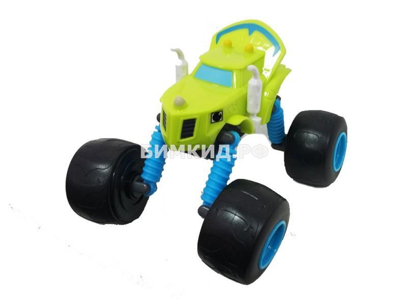 Машинка Зэг (15 см) с раздвижными колесами, музыкой и подсветкой (Вспыш и Чудо-машинки)