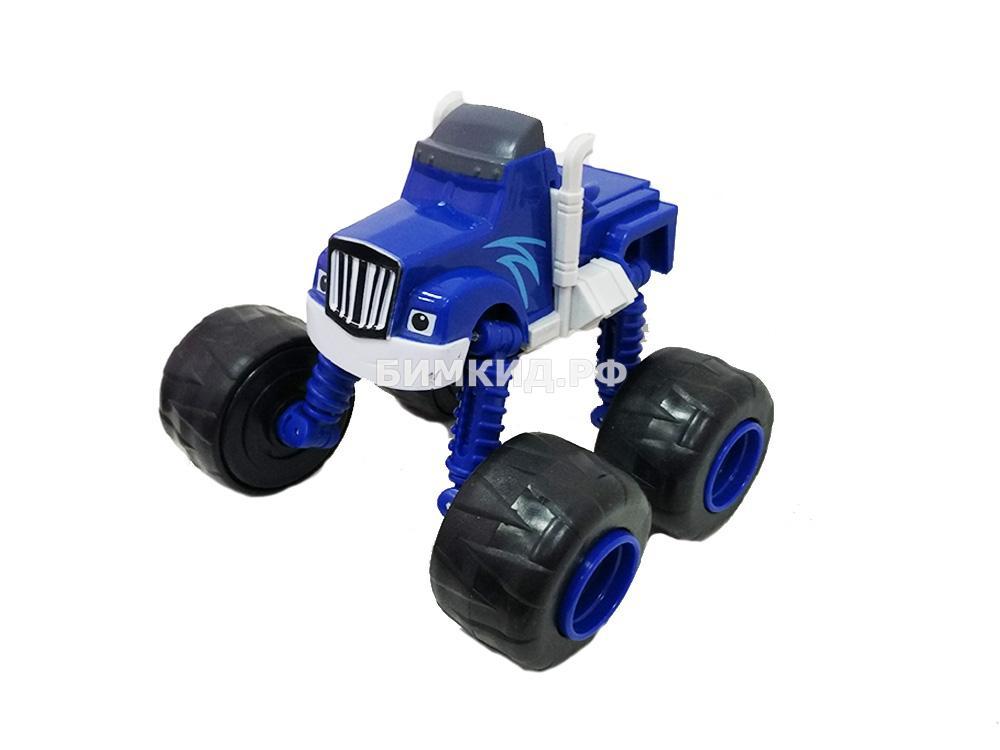 Машинка Крушила (15 см) с раздвижными колесами, музыкой и подсветкой (Вспыш и Чудо-машинки)
