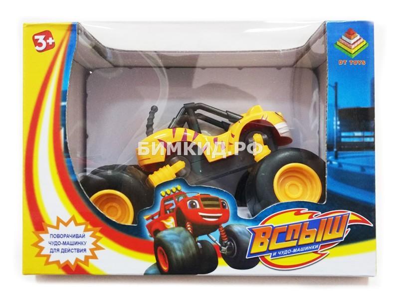 Машинка Рык (15 см) с раздвижными колесами, музыкой и подсветкой (Вспыш и Чудо-машинки)