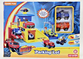 Автопарковка + 2 машинки Игровой набор (Вспыш и Чудо-машинки)