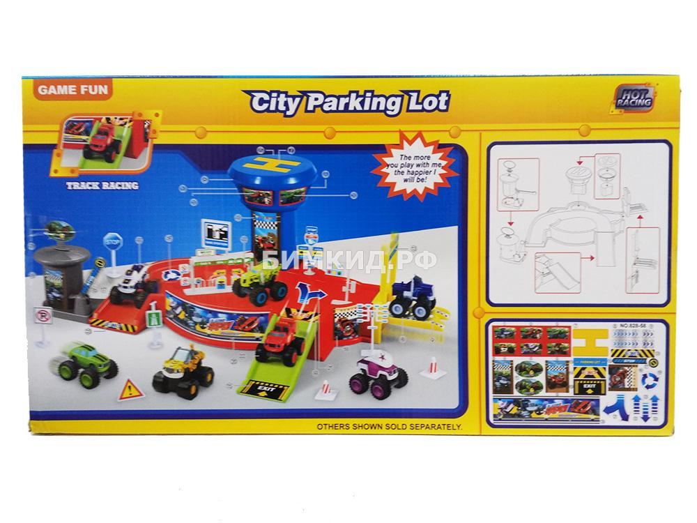 Городская парковка 4 машинки Вспыш и Чудо-машинки