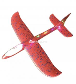 Большой метательный самолет с подсветкой по всей длине (красный)