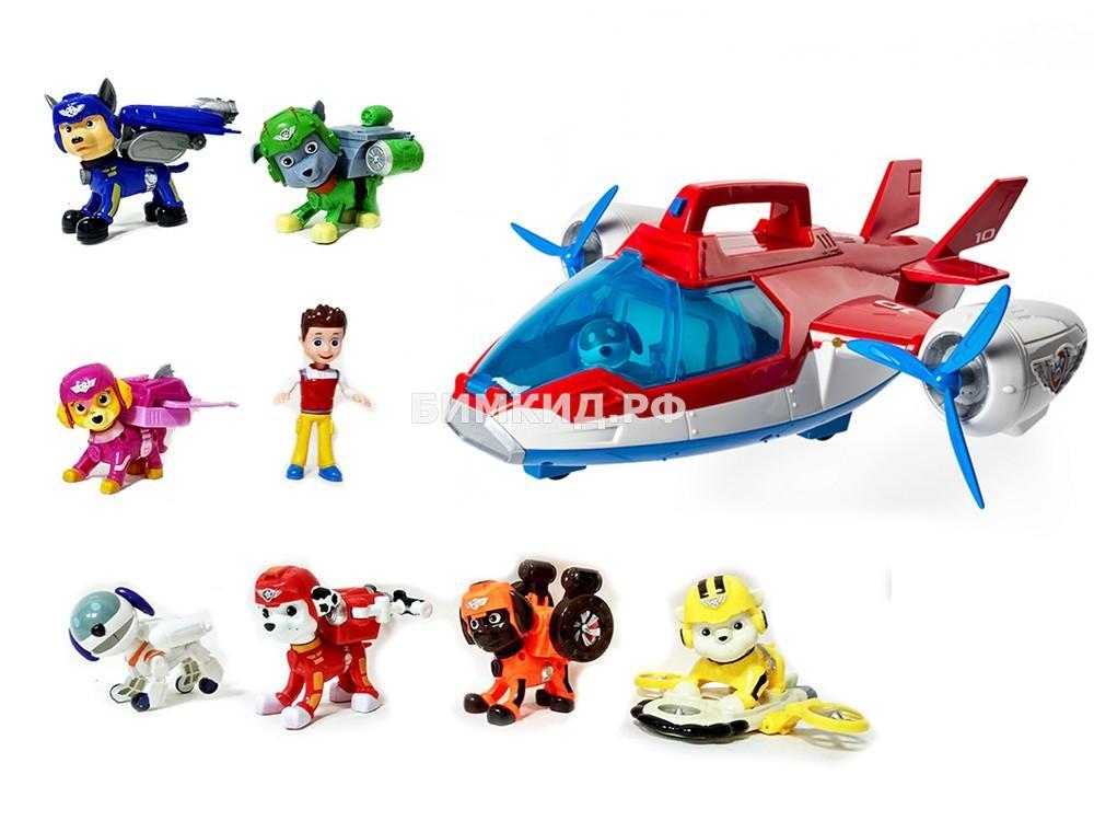 Набор большой Патрулелёт и 7 летающих щенков+ райдер (Paw Patrol)