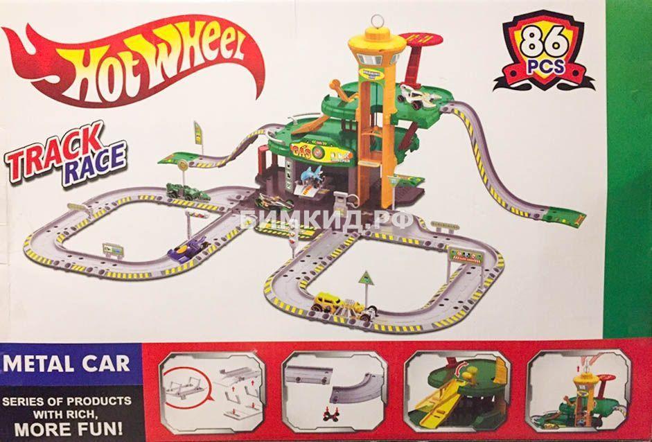 Игровой трек башня Аллигатора Хот Вилс + 2 машинки аллигатора