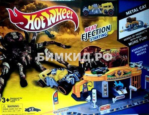 Игровой гараж Паука Хот Вилс + машинка паук Spider Hot Wheels