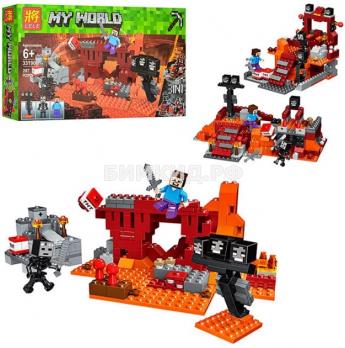 """Конструктор Lele Minecraft  """"Иссушитель. Бой в Подземелье""""  арт. 33190 287 детали"""