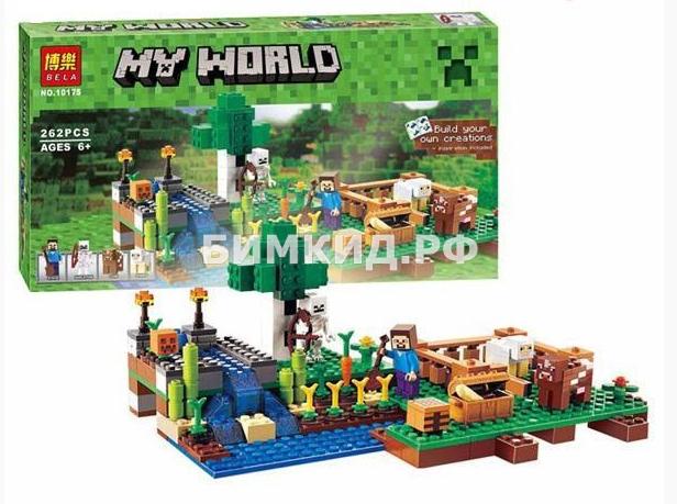 """Конструктор Bella Minecraft  """"Ферма"""" дет. 262 арт. 10175"""