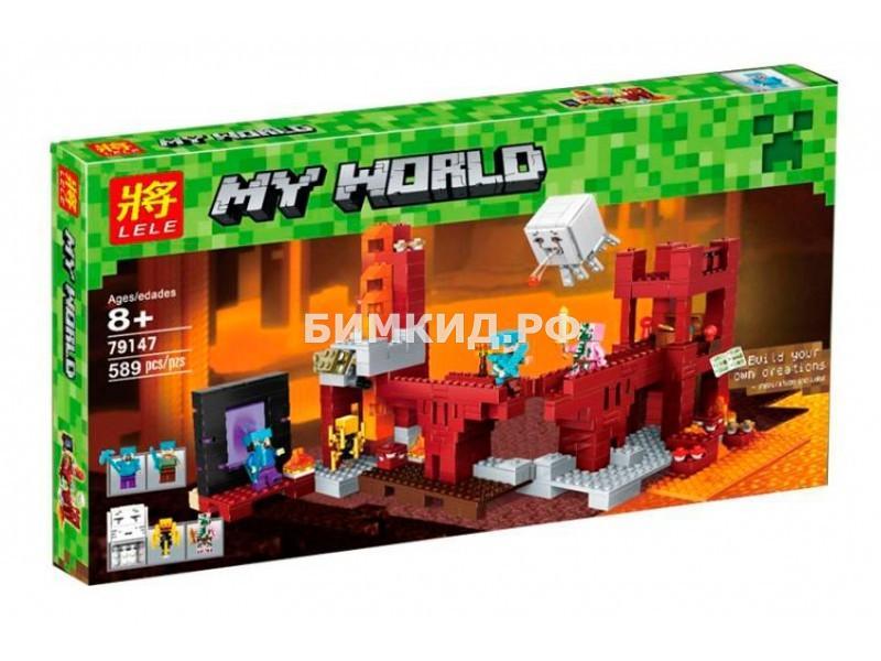 Конструктор Lele Minecraft «Подземная крепость» 589 дет. арт.  79147