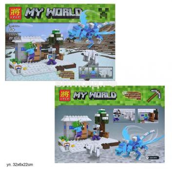 """Конструктор Lele Minecraft """"Ледяной Дракон"""" 291 дет. арт. 33225"""