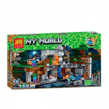 Конструктор LELE Minecraft Приключения в шахтах 33228, 664 деталей
