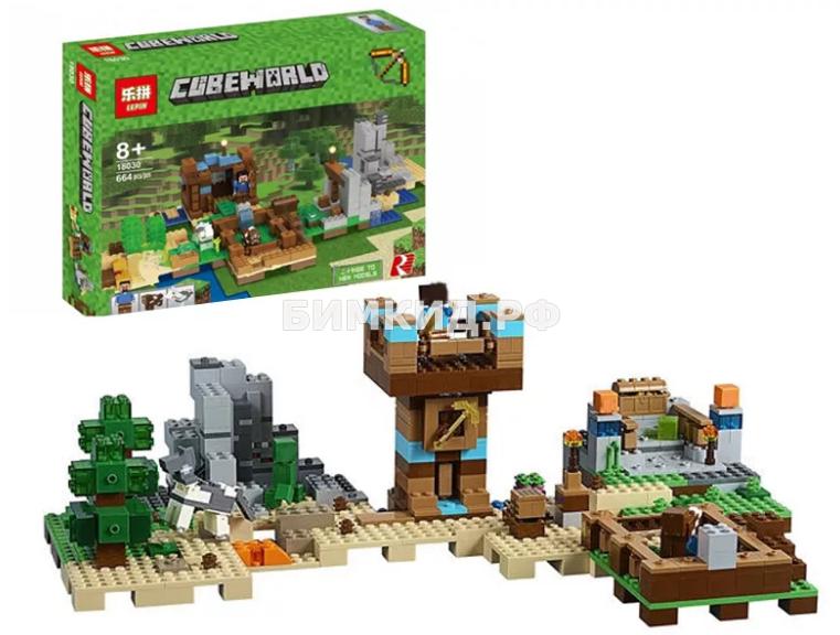 """Конструктор Lepin Minecraft  """"Хижина на острове"""" 664 дет. арт. 18030"""