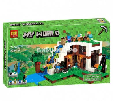 "Конструктор Bela Minecraft ""База на водопаде"" 747 дет. арт. 10624"