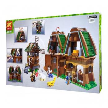 """Конструктор LELE Minecraft """"Конюшня и мельница"""" 671 дет. арт.  33100"""