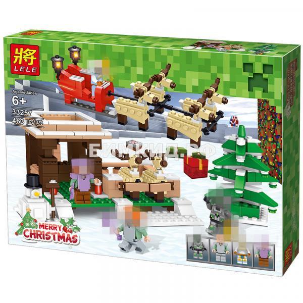 """Конструктор LELE Minecraft """" Рождество """" 463 деталей. арт.33257"""