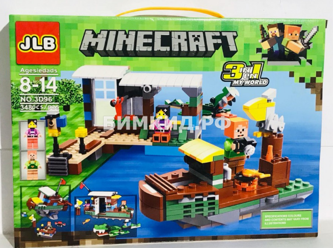 Конструктор JLB Minecraft «Причал» 630 дет. арт. 3D96