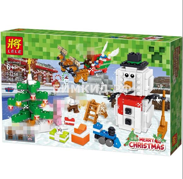 """Конструктор LELE Minecraft """" Рождественская ночь """" 368 дет. арт.33258"""