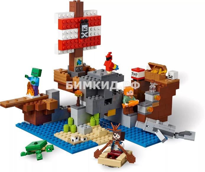 """Конструктор JLB Minecraft """"Пиратский корабль"""" 432 дет. арт. 3D93"""
