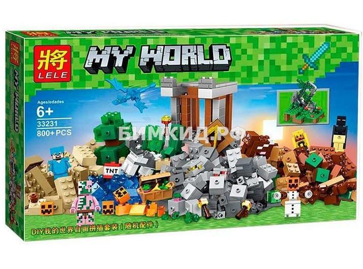 """Конструктор Lele Minecraft """" Падение башни """" 800 деталей арт.33231"""
