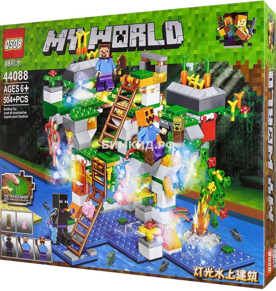 """Конструктор QS08 Minecraft """"Радужный остров"""" 504 дет. арт. 44088"""