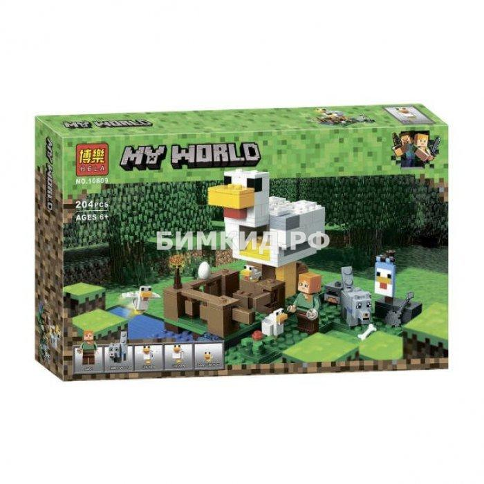 """Конструктор Bela Minecraft """"Курятник"""" 304 дет. арт. 10809"""