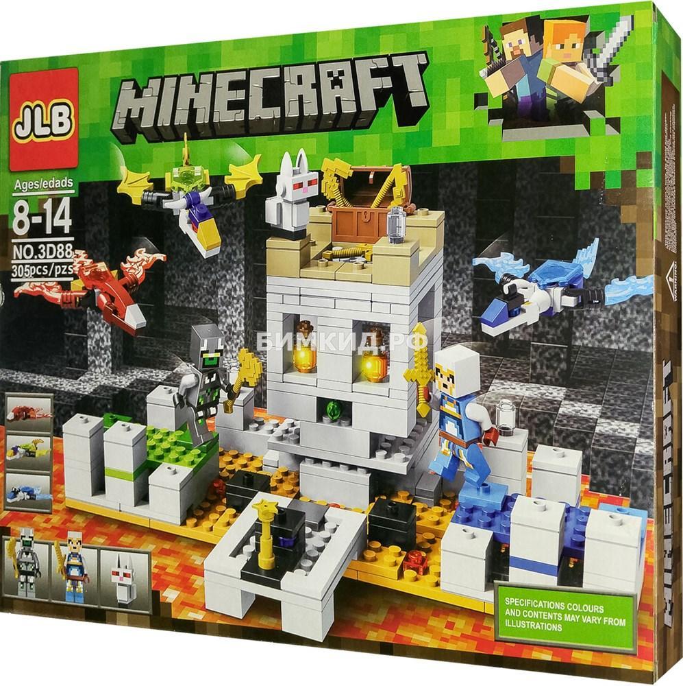 "Конструктор JLB Minecraft ""Осада замка"" 305 дет. арт. 3D88"