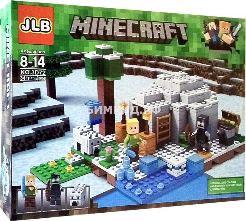 """Конструктор JLB Minecraft """"Иглу"""" 341 дет. 3D72"""