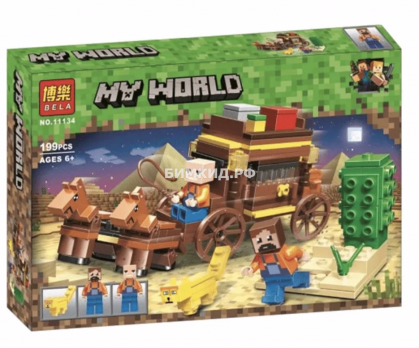 """Конструктор Bela Minecraft """"Путешествие по Египту"""" 199 дет. арт. 11134"""
