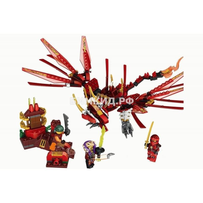 """Конструктор Lele Ninja """"Пламенный дракон Кая"""" 611 дет. арт.31164 (Ninjago)"""