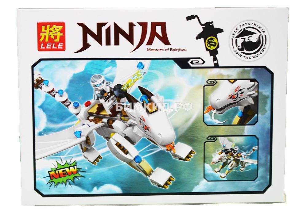 """Конструктор Lele Ninja """"Титановый дракон Зейна"""" 246 дет. арт.31010 (Ninjago)"""