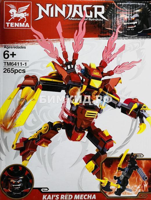 """Конструктор Tenma Ninja """"Огненный робот Кая"""" 265 дет. арт.TM 6411-1 (Ninjago)"""