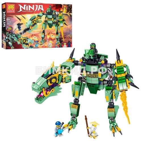 """Конструктор Lele Ninja """"Зеленый дракон"""" 568 дет. арт.31158 (Ninjago)"""