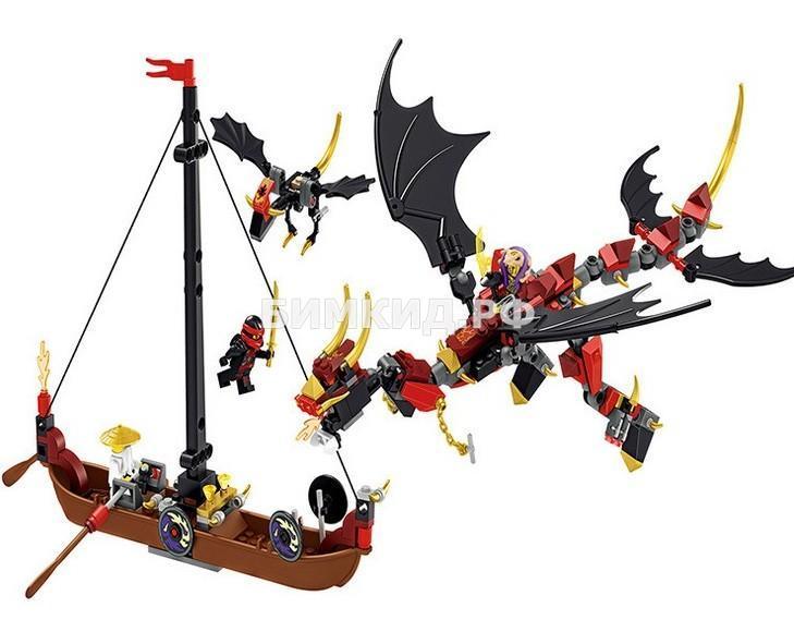 """Конструктор Lele Ninja """" Красный дракон""""329 дет. арт.31160 (Ninjago)"""