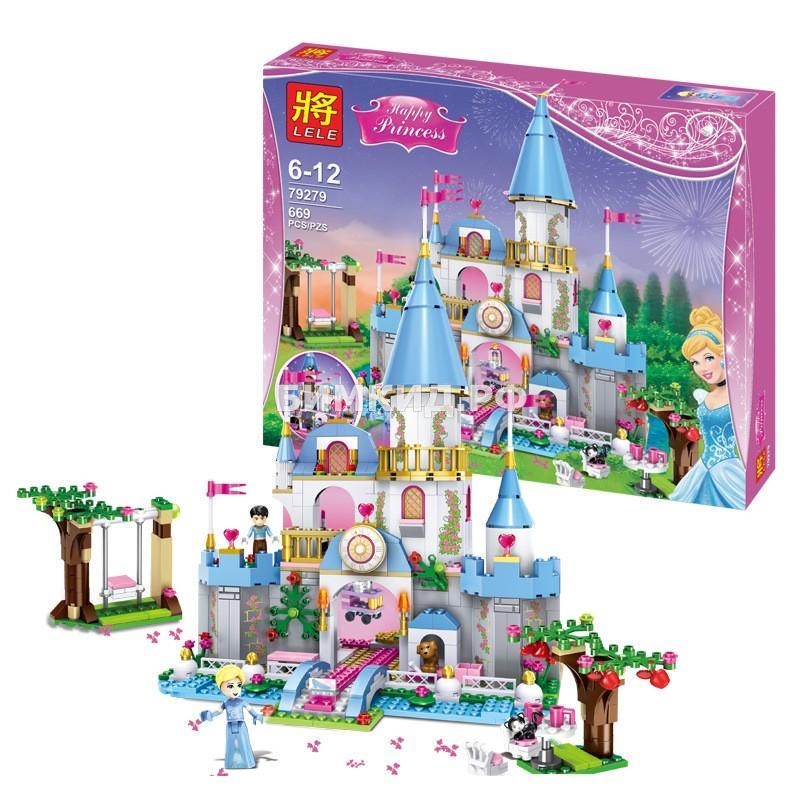 """Конструктор LELE Happy Princess """"Золушка на балу в Королевском Замке"""" 669 дет. арт. 79279"""