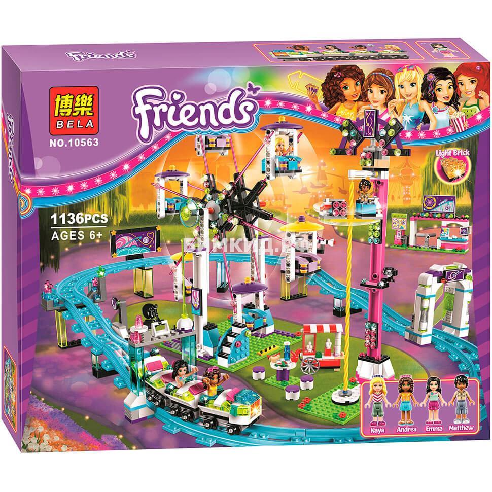"""Конструктор Bela Friends """"Парк развлечений: Американские горки"""" 1136 дет. арт. 10563"""