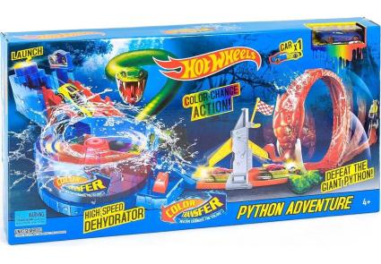 """Набор """"Приключения питона"""" Racing Color Shifter Cuttlefish Fichting (Hot Wheels)"""