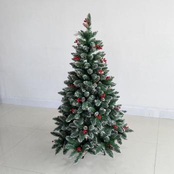 """Ёлка """"Олимпия"""" с ягодами 210 см + подарок гирлянда 400 лампочек"""