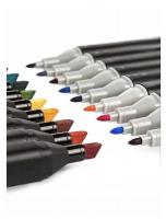 Набор профессиональных двусторонних маркеров для скетчинга 80 цветов Touch