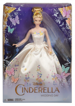 Кукла принцесса Золушка в свадебном платье
