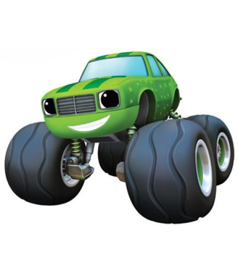 Машинка Огурчик (15 см) с раздвижными колесами, музыкой и подсветкой (Вспыш и Чудо-машинки)