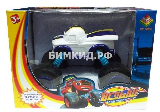 Машинка Смельчак (15 см) с раздвижными колесами, музыкой и подсветкой (Вспыш и Чудо-машинки)