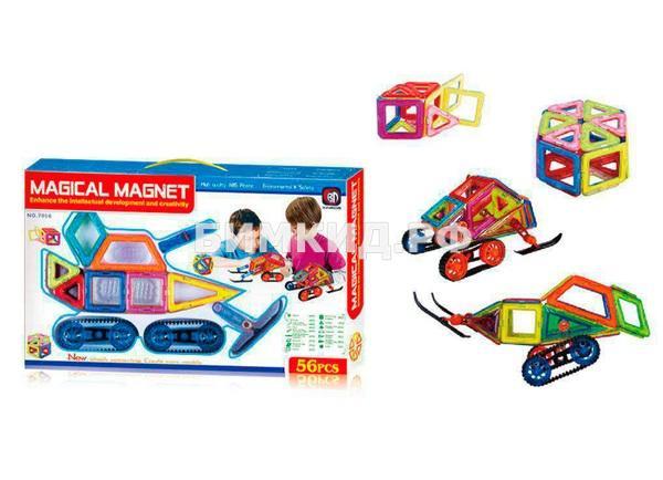 56 дет. Магнитный конструктор Magical Magnet