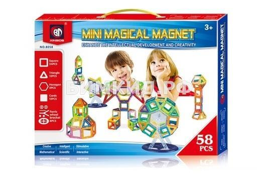 58 дет. Магнитный конструктор Mini, Magical Magnet